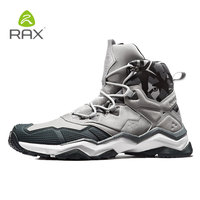 Rax New Waterproof Hiking Boots Mountain Boots Men Outdoor Sneakers Tactical Shose Sports Shoes Genuine Leather Hiking Shoes