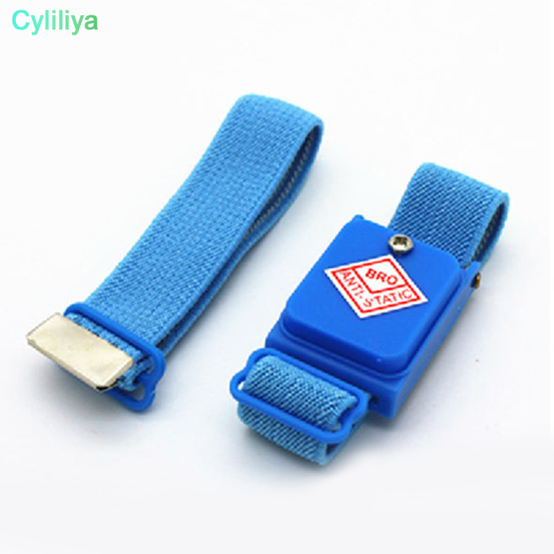 100pcs Cordless Wireless Clip Antistatic Anti Static Esd Wristband Wrist Strap Discharge Cables For Electrician Ic Plcc Worker