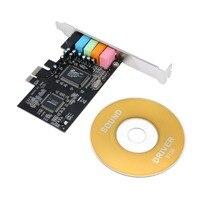 32-бит PCI Express x1 Bus Интерфейс PCI-e 5,1 Каналы CMI8738 Чипсет цифрового аудиосигнала звуковая карта
