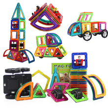 47Pcs Big Size Magnetic Building Blocks toys Triangle Square Constructor Brick Designer Enlighten Toys For Kid Gift
