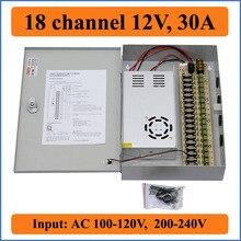 18 канал DC12V 30A CCTV Камеры Блок питания ИК-Осветитель Управления для 18CH DVR Камеры ВИДЕОНАБЛЮДЕНИЯ импульсный источник Питания Коробка 18 Порт