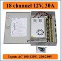 18 kanal DC12V 30A CCTV Kamera Power Box IR Illuminator Control für DVR CCTV Kamera Schaltnetzteil Box 18CHs port 30A-in Schaltnetzteil aus Heimwerkerbedarf bei