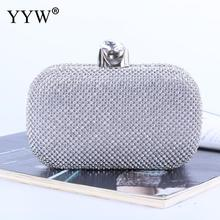 2019 Full Rhinestone Clutch Bag Evening Handbag Diamonds Wedding Handbags Women Day Clutch Mini Purse Bag With Chain Gold Black 2018vintage evening clutch with luxury diamonds evening handbag with detachable chain unique design for a variety of occasions