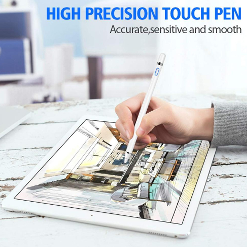 For Apple iPad Pro 11 12.9 10.5 9.7 2018 2017 Active Stylus Touch Pen Smart Capacitance Pencil For iPad mini 5 4 3 2 1 Air 1 2 3