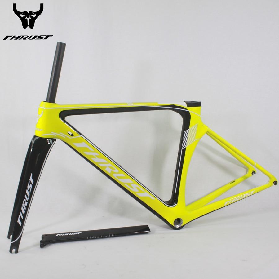 Carbon Frame Road Bike Carbon Bicycle Frame 48 50 52 54 56cm T1000 UD Bike Frame Matte Glossy BB30 BSA 700C Wheels 9 Colors стоимость