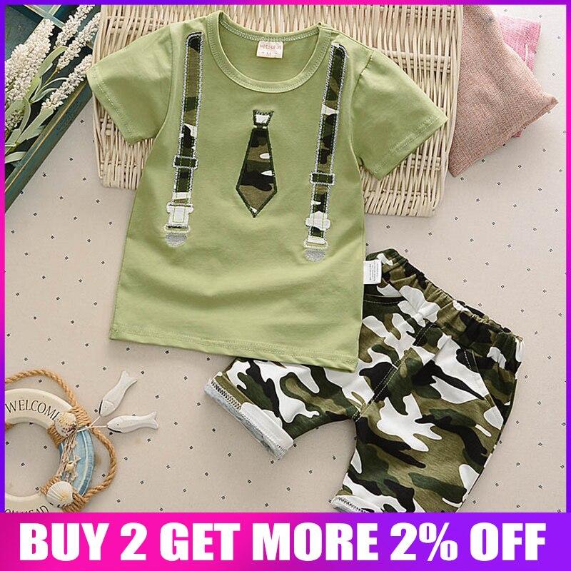 BibiCola baby boys summer clothing sets newborn baby casual cotton t-shirt+short pants tracksuits for bebe boy infant sports set