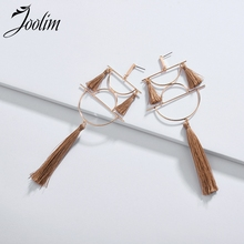 Joolim Jewelry Wholesale/White Red Gray Brown Fabric Tassel Drop Earring