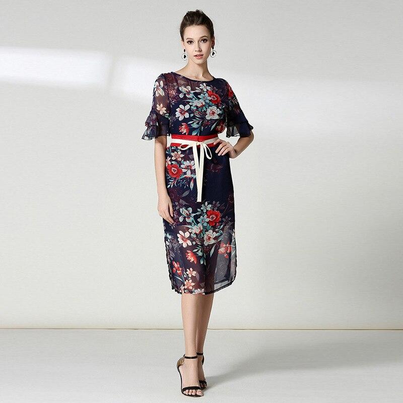 Loisirs Printemps Imprimer Vintage Qualité Robe Nouveau Robes blue Couleur Explosions Eté Black Correspondant Femme Haute Casual Cxqxwtv