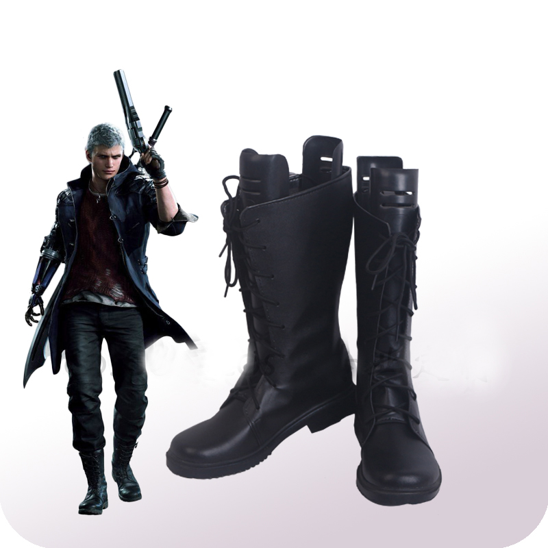 Devil May Cry 5 Nero Cosplay Shoes Boots Halloween Carnival Party Cosplay Costume Accessories