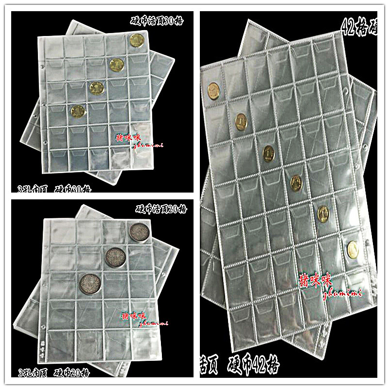 10pcs Album For Coins Albums Page 20 30 42 Pocket Coins Collection
