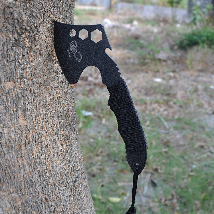 Outdoor Camping Stainless Steel Multi Functional Axe with Sheath