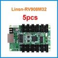 5 piezas Linsn studio RV908M32 sistema de control de pantalla LED soporte de tarjeta de recepción estática 1/2 1/4 1/8 1/16 1/32 trabajo de escaneo con TS802D