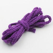 7 мм 90 ярдов/партия ручная работа 100% хлопок веревка фиолетовый