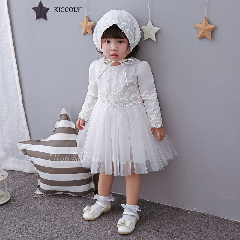 Summer Autumn Baby Girls Dress Princess Dresses 2pcs Baby Flowery Dress Cotton Long Sleeve  Embroidered Hat Girl Clothing Set clearance baby dresses princess girls dress 2 5years cotton clothing dress summer clothes for girl