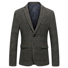 2019 Spring British Style Slim Fit Blazers Classic Business Jacket Blazer Men Casual Male Wool Suit Jacket Men's Stripe Blazer цены