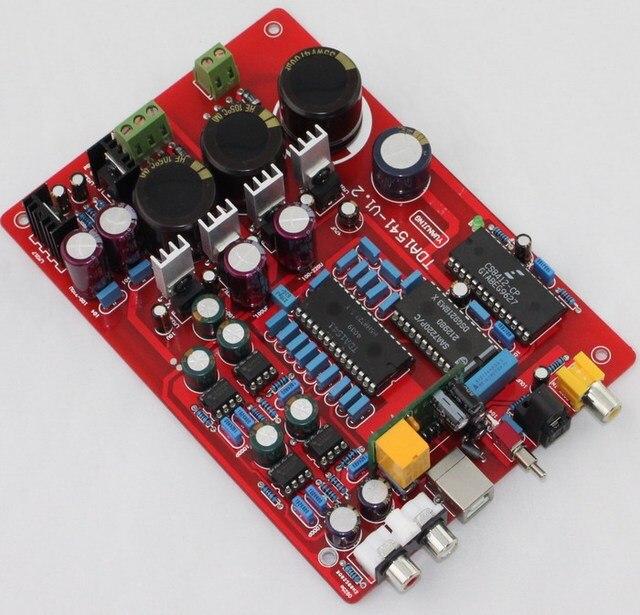 Power amplifier decoder TDA1541 NE5534 fiber coaxial usb PCM2704 decoder board