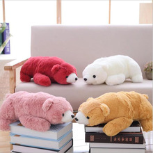 купить New Cute Cartoon Polar Bear Short Plush Toys Stuffed Animal Doll Toy Soft Plush Pillow Children Birthday Gifts по цене 1137.19 рублей
