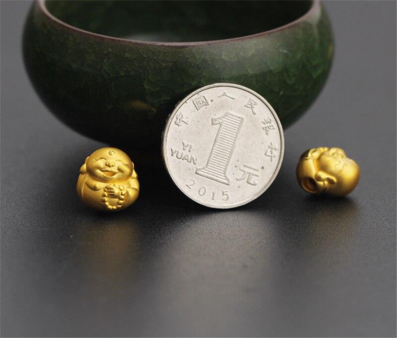 Pure 24 k 999 Geel 3D Gold Smile Boeddha Geluk Kraal Zwarte Agaat 8mm Armband Voor Vrouwen Mannen Mode 1 1.2g 12*13mm 2019 Nieuwe-in Armbanden & Armring van Sieraden & accessoires op  Groep 3