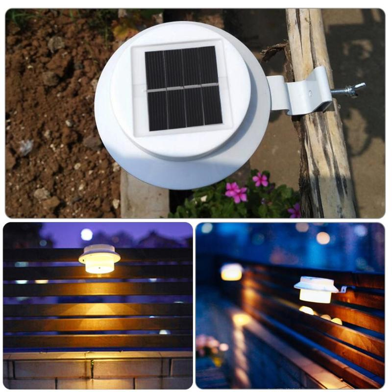 3 LED Solar Power Light Waterproof LED Sensor Solar Lamp Light Outdoor Garden Landscape Light Path Roof Corridor Fence Wall Lamp fghgf 2018 light sensor 6 led wall light outdoor garden fence ip55 waterproof lamp automatically light gutter fence warm white