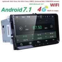 2Din 9 Android 7,1 dvd плеер автомобиля стерео радио для VW GOLF 5 Golf 6 поло Passat CC Jetta tiguan Touran gps навигации 2 г Оперативная память 4 г