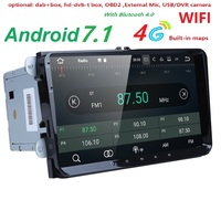 2Din 9 Android 7,1 dvd плеер автомобиля стерео радио для VW GOLF 5 Golf 6 поло Passat CC Jetta tiguan Touran gps навигации 2G RAM 4G