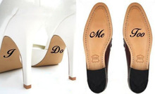 2pcs/set I Do  Me Too Personalized Wedding Shoes Decal Vinyl Stickers for Accessories
