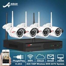 Plug And Play Inalámbrico de $ number CANALES NVR Sistema CCTV 720 P IP WIFI de la cámara A Prueba de agua Visión Nocturna Por INFRARROJOS Inicio Seguridad Cámara de Vigilancia Kit