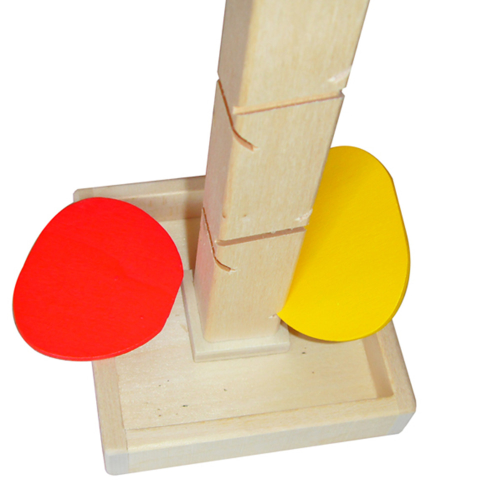 1 Set Blok Pohon Kayu Marmer Ball Run Track Permainan Kanak-kanak - Mainan pembinaan - Foto 5