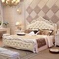 В европейском стиле кровать M высоким кровать мягкая пакет назад супружеской постели рамка французской сельской кровать принцессы