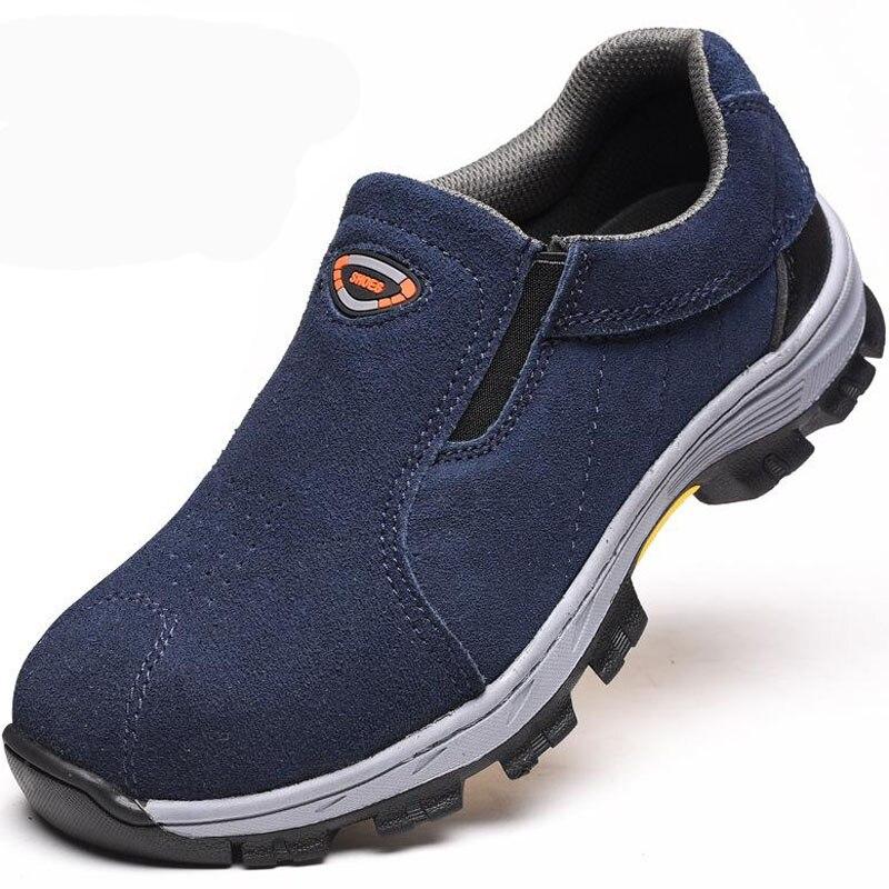 Safety Shoes Cap Steel Toe Safety Shoe Boots For Man Work Shoes Men Waterproof Size 12 Footwear Winter Wear resistant GXZ028|Safety Shoe Boots| |  -