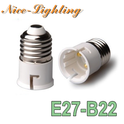 10pcs/lot E27-B22 Lamp Holder Converter Screw Socket E27 B22 Lamps Holder Adapter Light Bulb Plug Extender Free Shipping