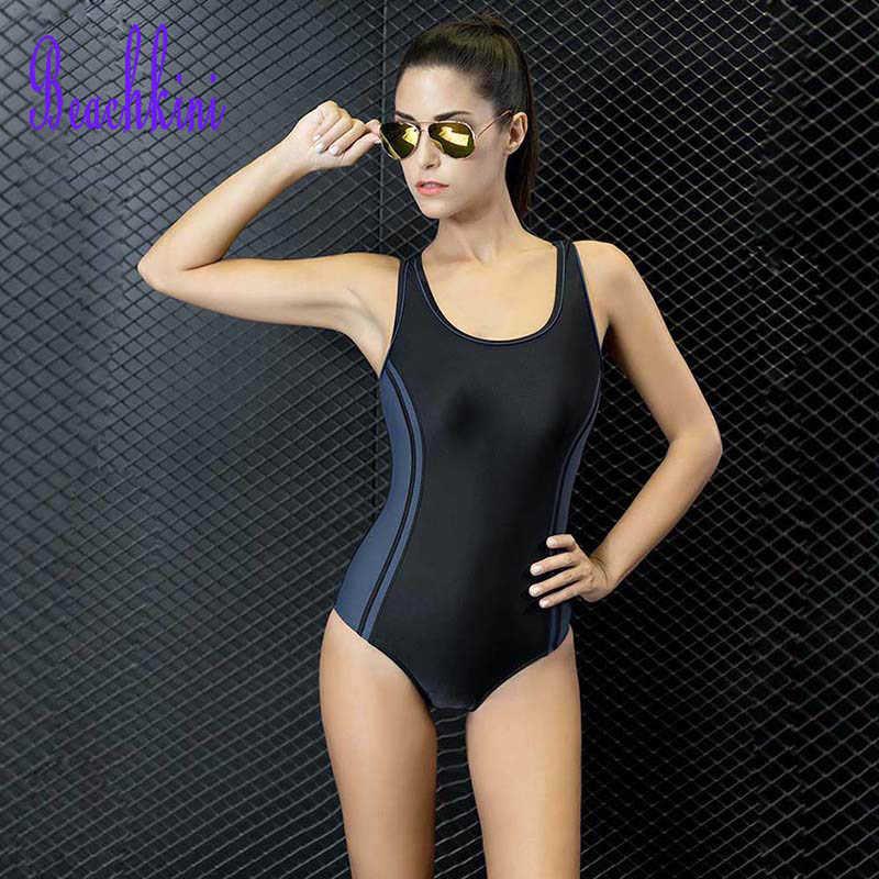 One Piece Swimwear Women Sports Swimsuit Racing Competition Sexy Bodysuit Female U-Neck Bathing Suit 2017 Athletics Clothing one piece professional female racer back swimwear sports swimsuit racing competition black tight bodysuit bathing suit