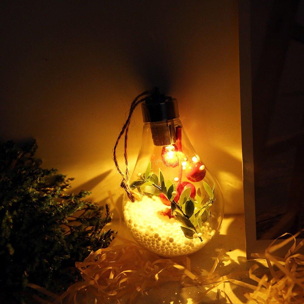 Световой елка на Рождество в форме лампочки свет настенное украшение красивый отельный подарок вечерние Прозрачный светящийся шар Мода