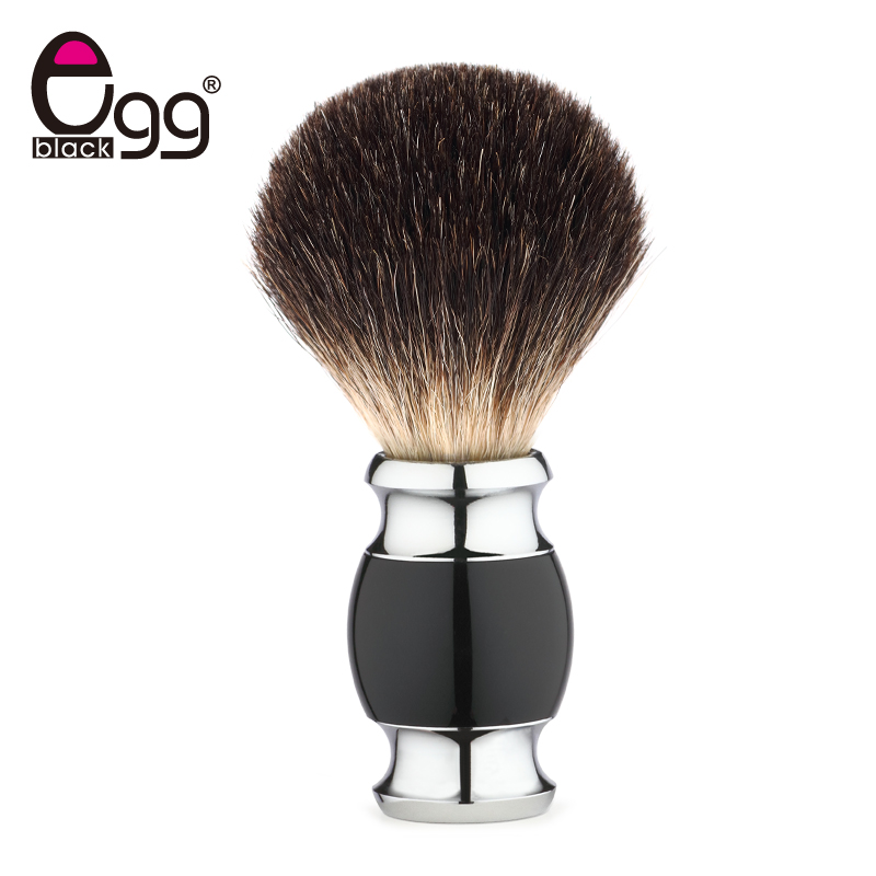 Men Shaving Brush Luxury Badger Bristles Shaving Razor Brush Barber Salon Facial Beard Comb Cleaning Appliance Tool Metal Base denture cleaning brush multi layered bristles false teeth brush oral care tool bristles page 8