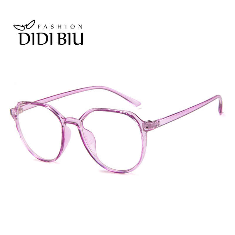 457a389a1923 ... Cat Eye Plastic Leopard Glasses Frame Polygon Vintage Spectacle Frames  For Women Men Transparent Eyewear Frames ...