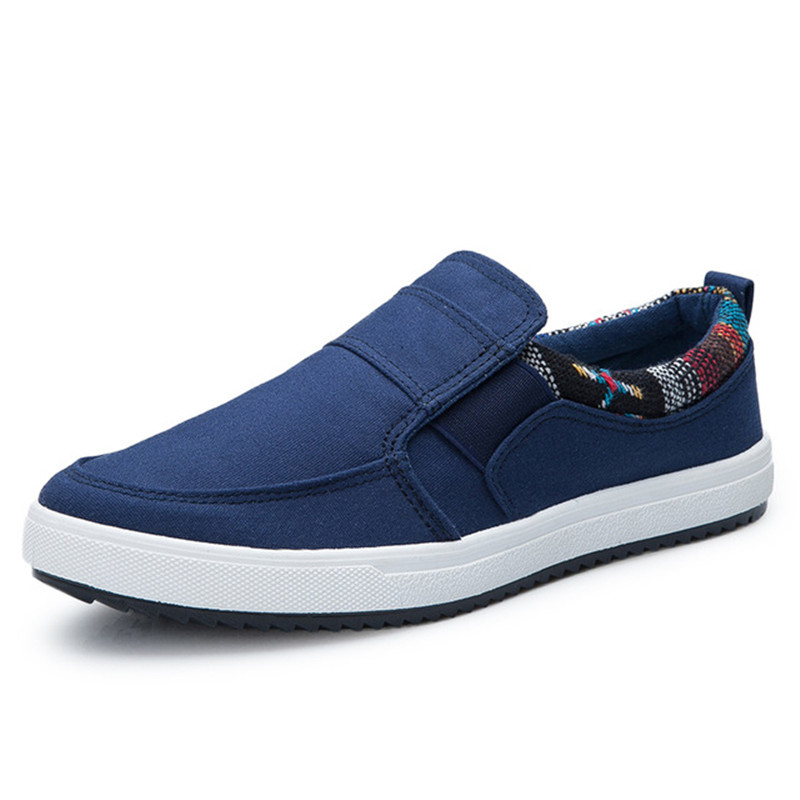 Men Loafers Flats-Sneakers Canvas-Shoes Anti-Slip Outdoo Comfortable Autumn Quality Casual