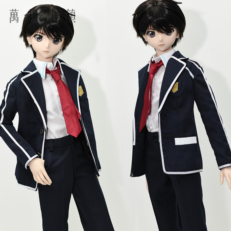 Accept custom Cosplay Sword art online Kirigaya Kazuto Kirito School uniforms Cos 1/3 1/4 BJD COS DD SD MSD Doll Clothes accept custom european style black leather suit bjd uncle 1 3 sd ssdf doll clothes