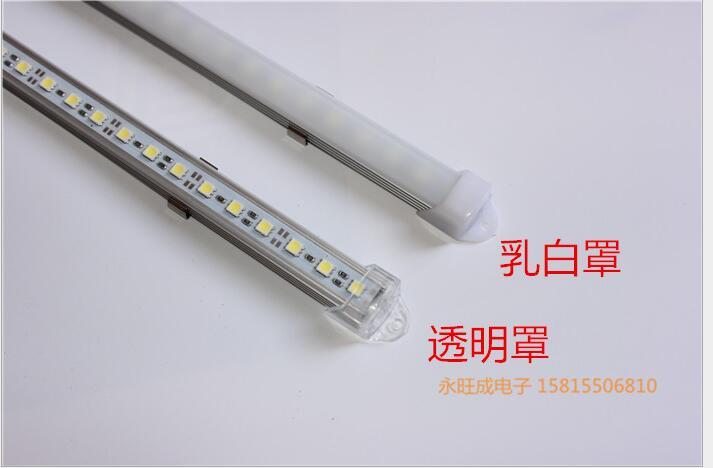 Кухня водить под свет DC12V 5050 5630 5730 LED Жесткий Светодиодные ленты бар свет + V/u алюминий + U плоская крышка 1 м 100 см x 20 м ...