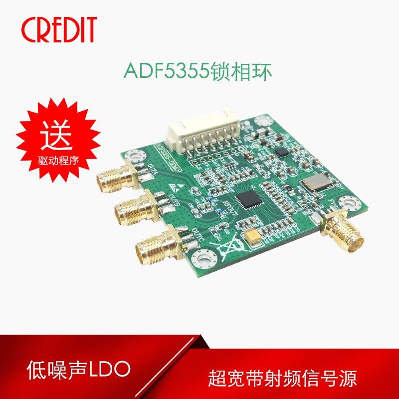 ADF5355 Module UWB PLL Source de fréquence Source de Signal radiofréquence 54 M-13.6G faible bruit LDO