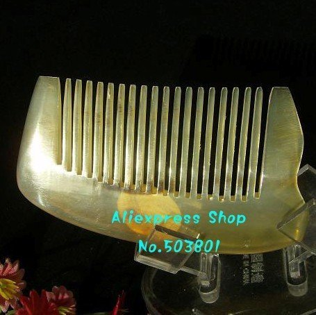 10 pcs Wholesale 8.5cm  100%  nature horn comb ,hair care products,anti-static