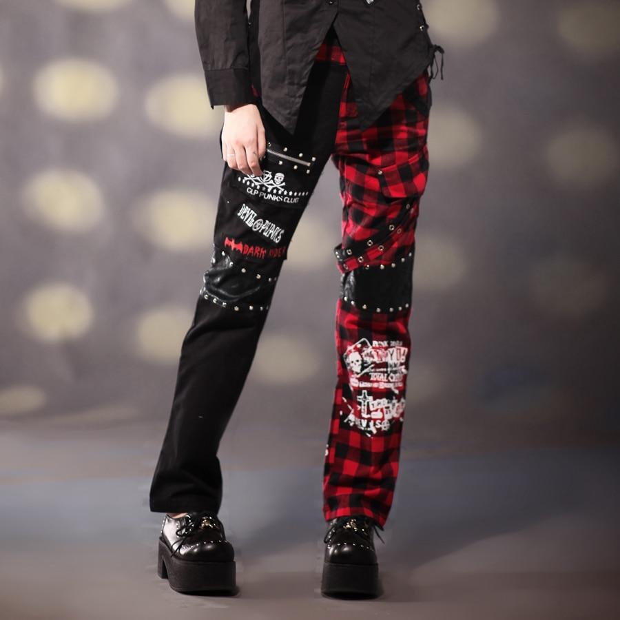 القصف إنسانية محتمل Pantalones Cuadros Escoceses Punk Mujer Psidiagnosticins Com