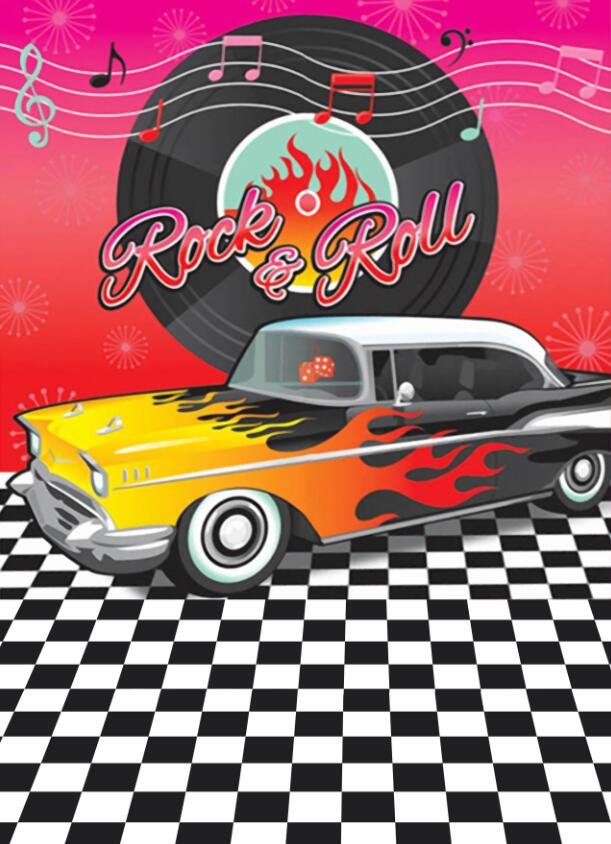 Us 989 Mehofoto Photography Backdrops Rock Roll Retro 1950s Party Car Photo Booth Prop Children Birthday Decor Backgrounds Photo Studio In