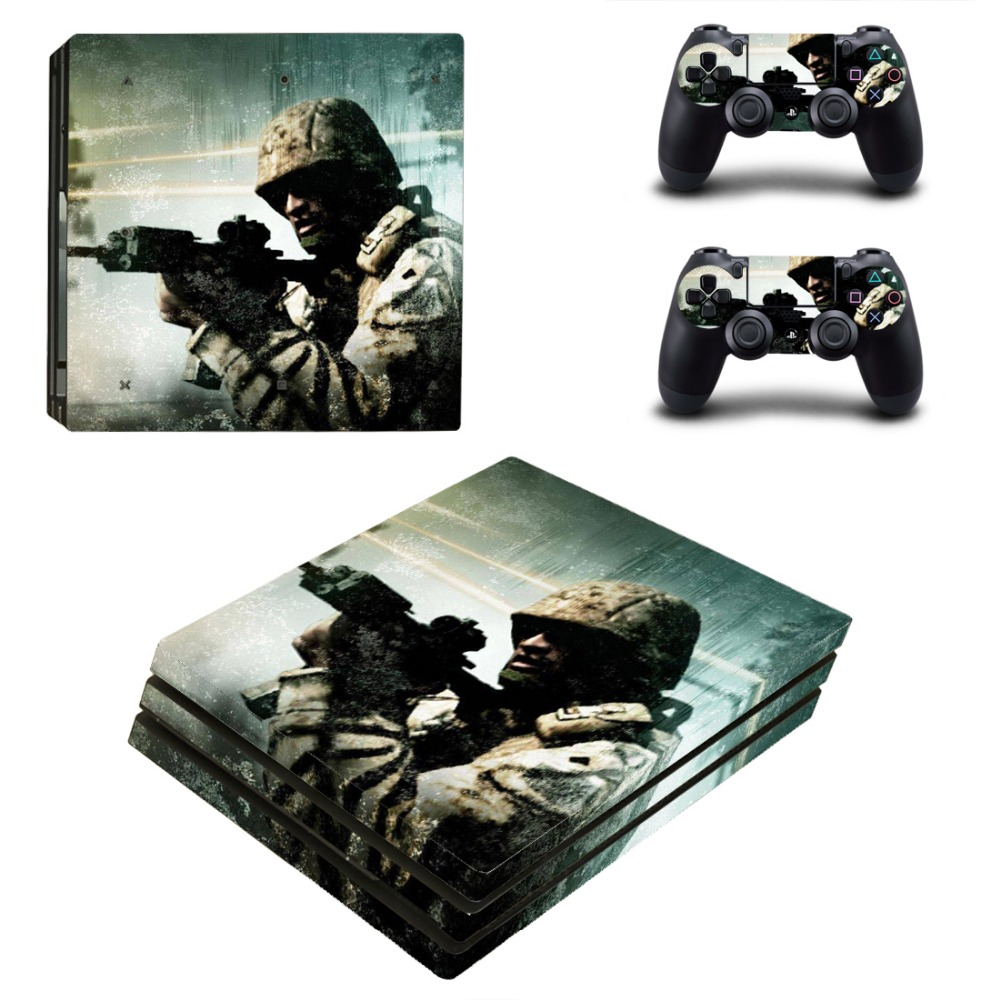 War Man PS4 PRO Skin Sticker for Sony PS4P Console and 2 Controllers Decal Cover Game Accessories