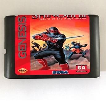 Shinobi III Return of the Ninja Master - 16 bit MD Games Cartridge For MegaDrive Genesis console
