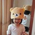 Boys Hat Soft Cartoon Rilakkuma Bear Plush Hat,Children cap  Fashion christmas Hats Free Shipping
