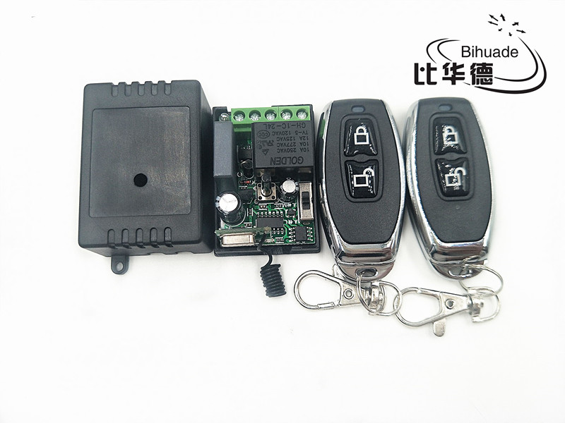 RF 433 Mhz Remote Controls and 433 Mhz Universal Wireless Remote Control Switch AC 220V 1CH Relay Receiver Module image