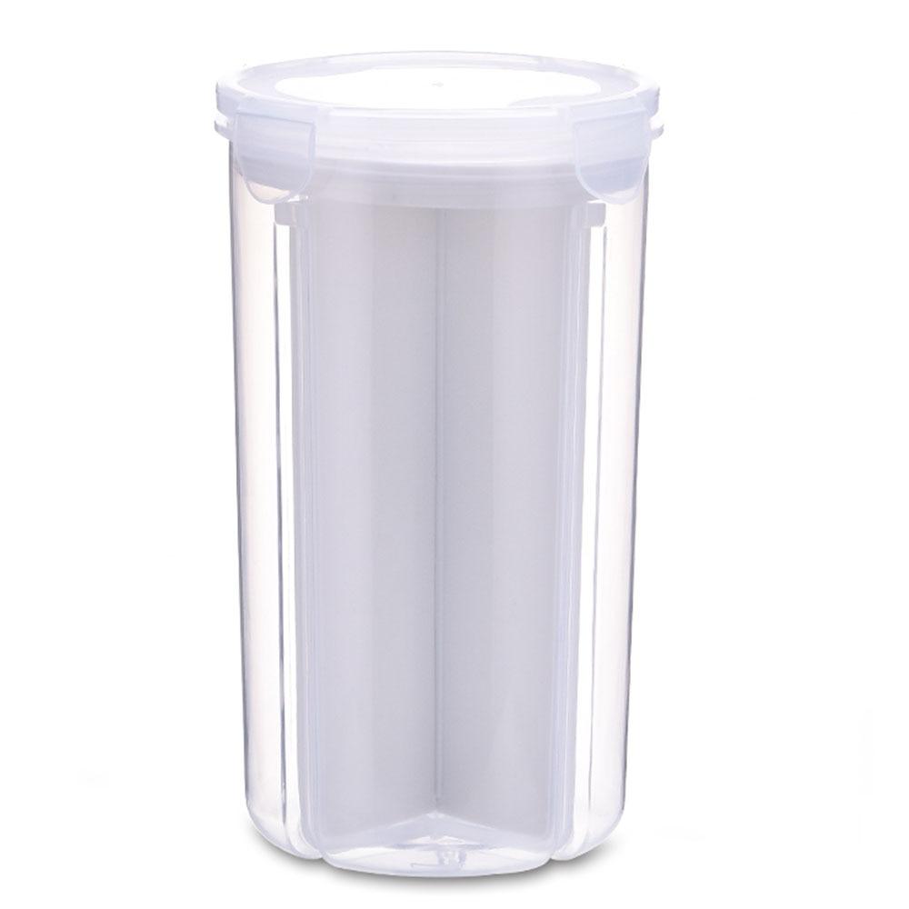 Контейнер для хранения 2,1-3L контейнер для холодильника кухня зерно коллекция Риса контейнер свежий ХРАНЕНИЕ Сбор танк контейнер коробка плотно - Цвет: white
