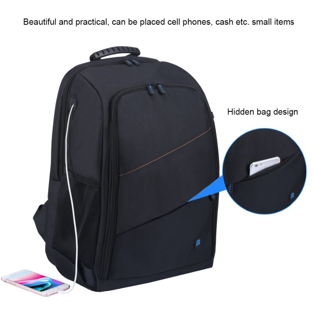 лучшая цена PULUZ Portable Waterproof Scratch-proof Dual Shoulders Backpack Camera Accessories Bag Digital DSLR Photo Video Bag