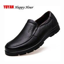 Mocassins en cuir véritable pour hommes, chaussures dhiver de marque, chaudes, en peluche, de bonne qualité, KA444, chaussures décontractées