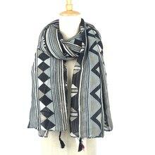 2016 geometry Scarf Women Tartan scarves Tartan Plaid Scarf Bohemia Checked Oversized Wrap Shawl